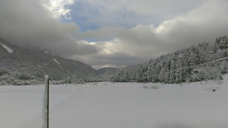 三方五湖 積雪
