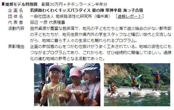 トム・ソーヤースクール企画コンテスト受賞